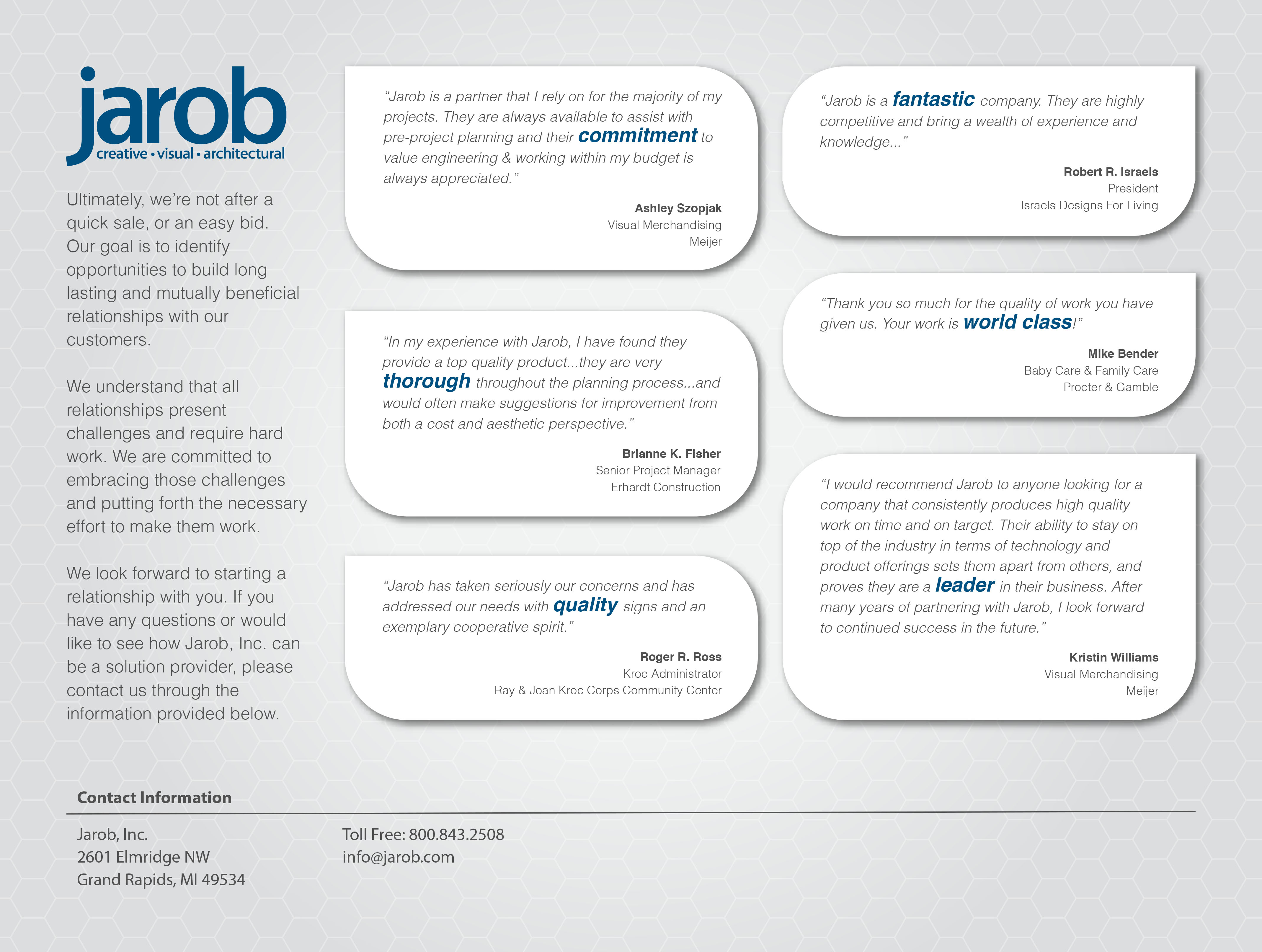 Jarob Sales Brochure