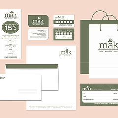 MAK Salon and spa business cards