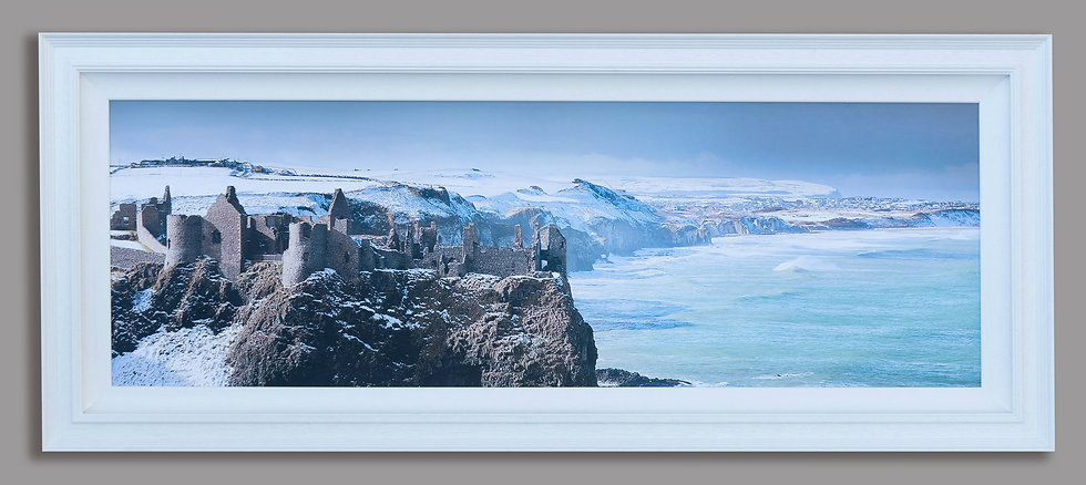 Framed Dunluce Castle canvas