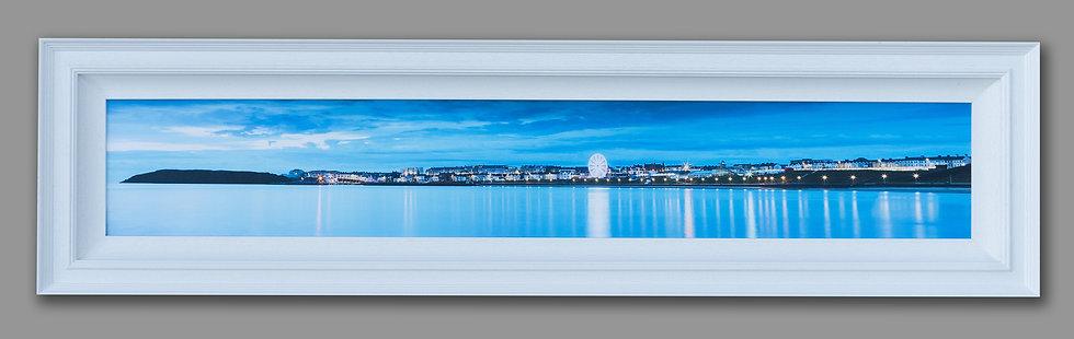 Portrush lights framed canvas