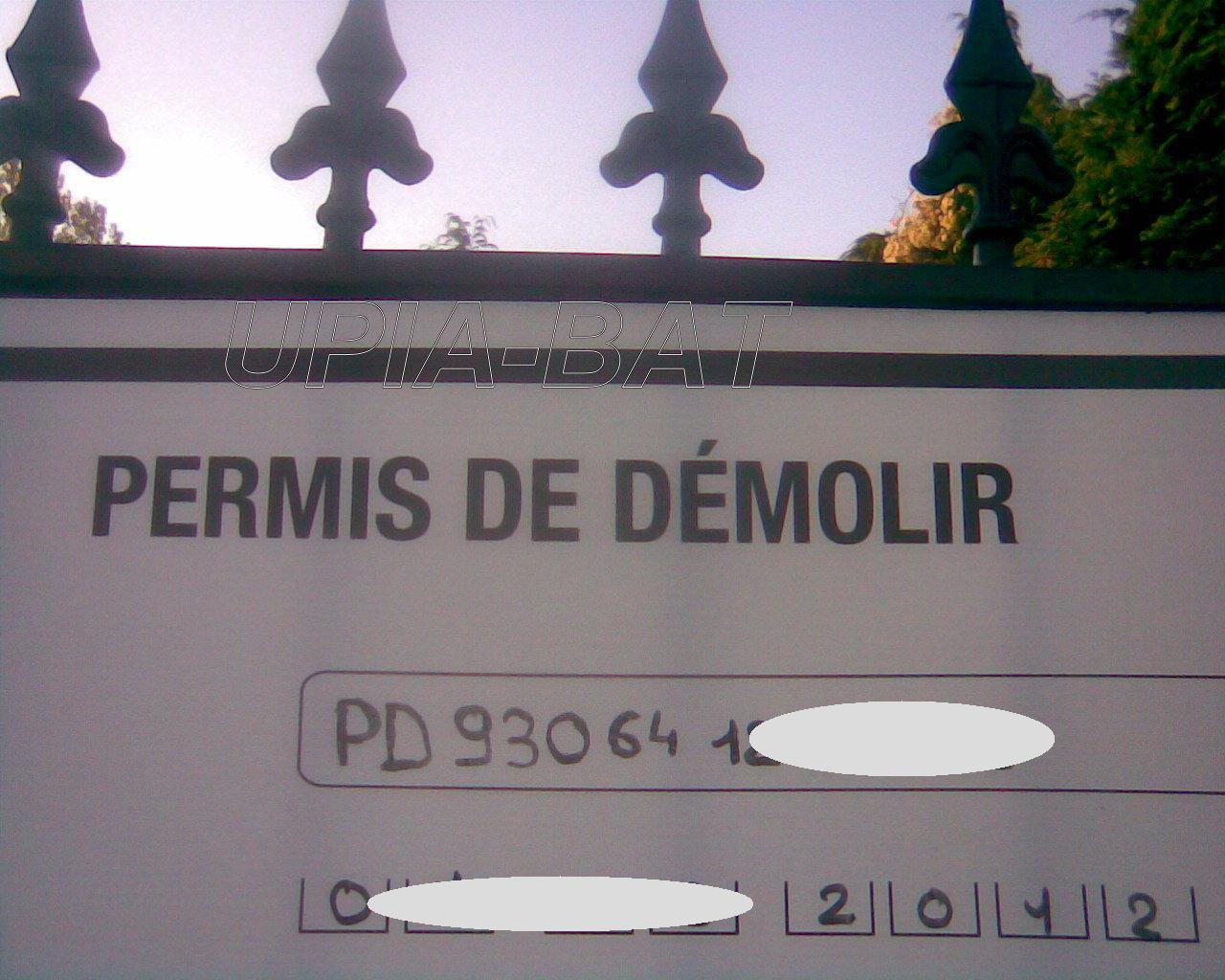 Démolition / destruction de maisons