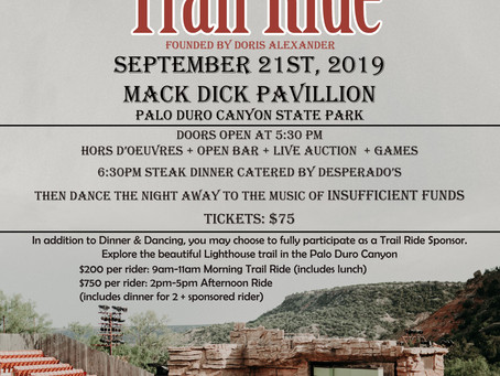 Announcing the 12th Annual Rider on the Rim Trail Ride