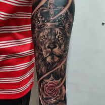 King lion with Rose