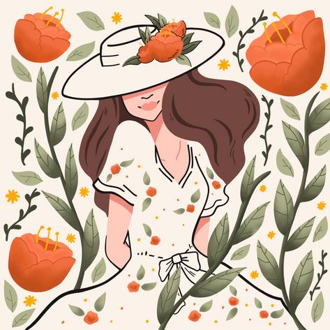 Floral Girl Adrianne
