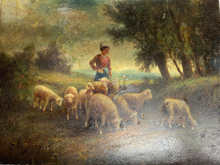 Mulvane Shepherdess Painting