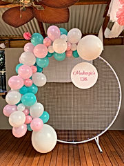 Mesh Wall and Balloon Garland