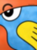 Pop Art Blue Bird.png