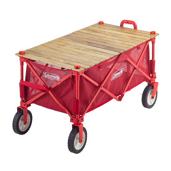 Coleman OUTDOOR WAGON ROLL WOOD TABLE
