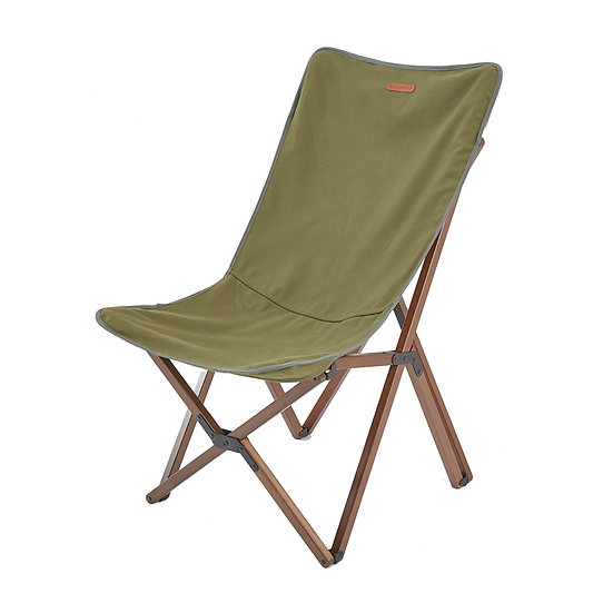 Blackdeer nature beech folding chair green big
