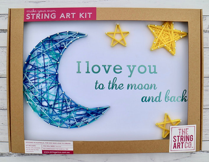 String Art Kit: Moon & Back