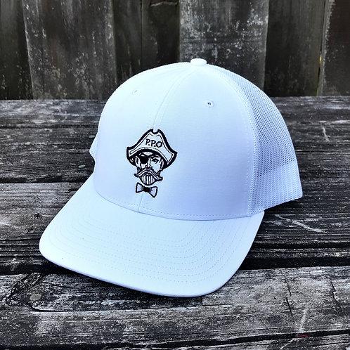 Preppy Pirate All White Snapback hat
