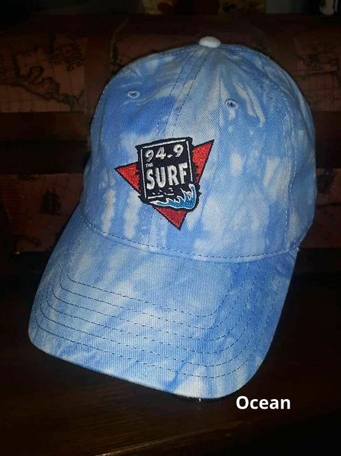 Tie-dye 94.9 The Surf Official logo hat