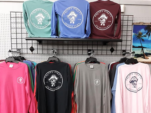 Preppy Pirate Outfitters Circle Logo Long Sleeve