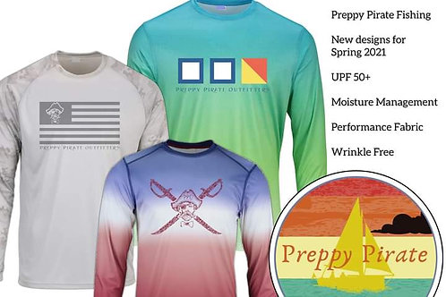 2021 Preppy Pirate  UPF+ 50 longsleeve fishing shirt series