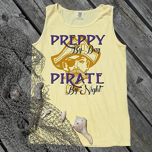 Preppy by day Pirate by night Tank Top