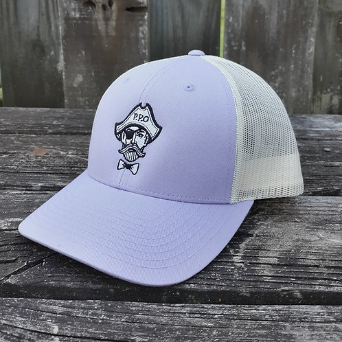 Preppy Pirate logo snapback trucker hat - Lavender