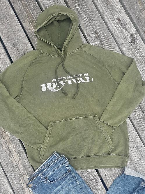 """Revivial"" Jim Quick & Coastline Pigment dye hoodie"