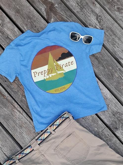 Preppy Pirate Summer Sailing T Shirt