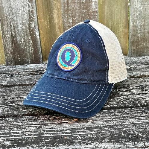 Jim Quick & Coastline Unstructured Navy Patch trucker hat