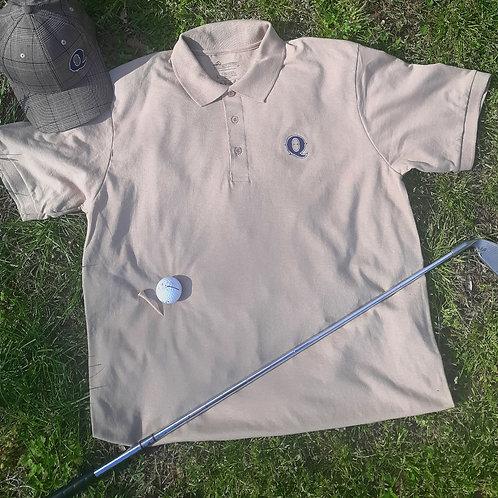 Jim Quick & Coastline Khaki Tan Golf Shirt