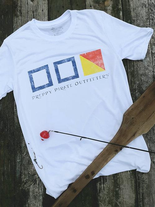 Preppy Pirate Nautical Flag P.P.O. performance shirt
