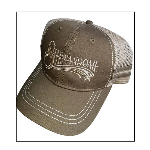 Shenandoah Band Olive 2 Stripe trucker hat