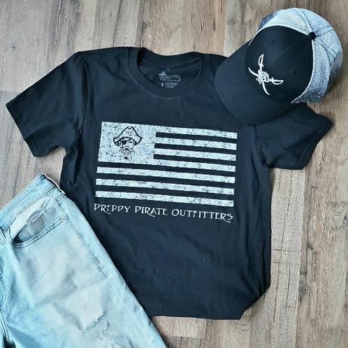 "Preppy Pirate ""United We Rep"" Flag shirt"