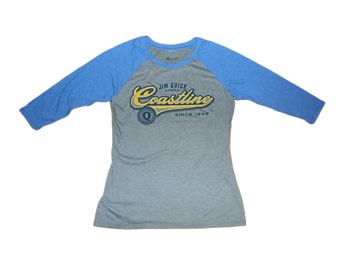 Ladies Jim Quick & Coastline tri blend baseball tees
