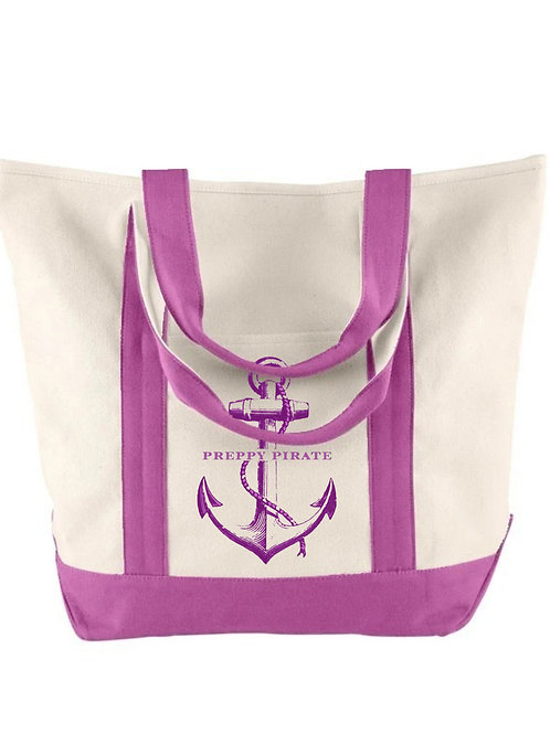 Preppy Pirate Canvas large tote bag by Comfort Colors