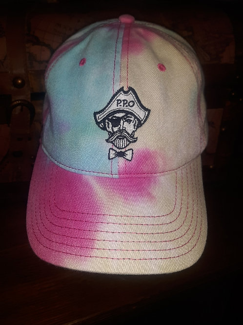 Preppy Pirate Cotton Candy tie-dye hat