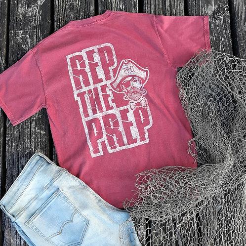 Preppy Pirate REP THE PREP short sleeve T - Crimson