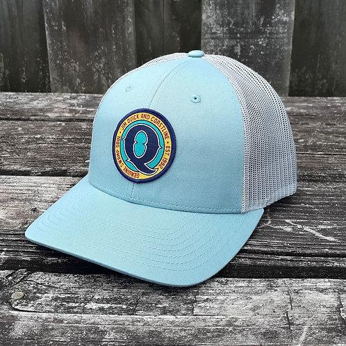 Jim Quick & Coastline Patch trucker hat - Smoke Bhlue