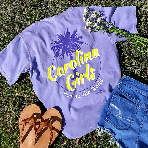 Carolina Girls - Best in the World shirt logo t shirt - Purple