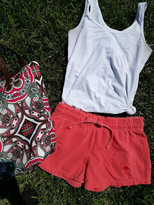 Ladies Preppy Pirate Summer Shorts - Watermelon