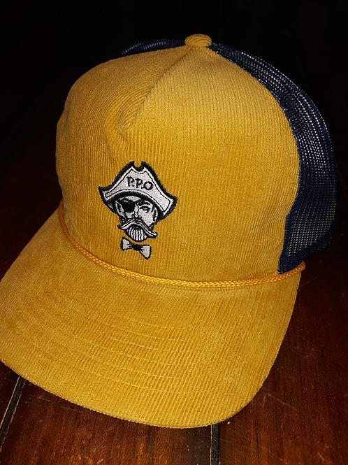 Preppy Pirate fashion corduroy rope trucker hat