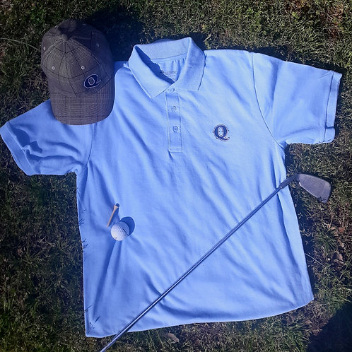 Jim Quick & Coastline Powder Blue Golf Shirt