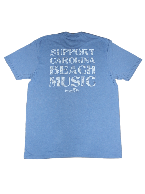 CBMA - Support Carolina Beach Music tri-blend T - Blue