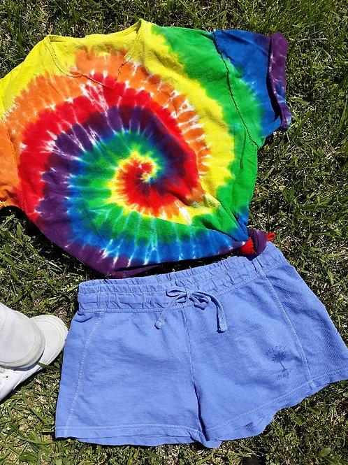 Ladies Preppy Pirate Summer Shorts - Flo Blue