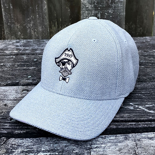 Preppy Pirate Stretch Fit All Grey Hat