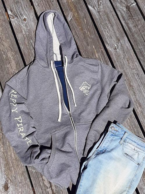 Preppy Pirate Triple Logo Zip Hoodie jacket
