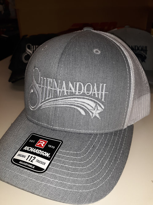 Shenandoah Heather Grey snapback trucker hat
