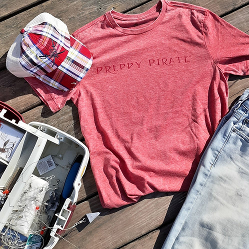 Preppy Pirate 2020 Red Burn-out tee