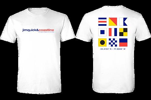 "Jim Quick & Coastline ""Retro"" Against All Flags shirt"