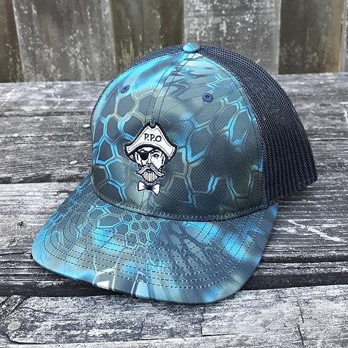 Preppy Pirate Blue Kryptek snapback hat