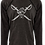 """Thumbnail: Preppy Pirate """"Twisted Pirate"""" Black hoody work out shirt"""