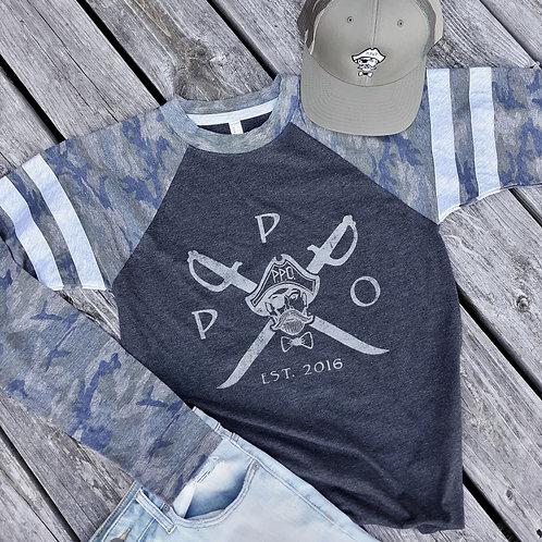 Preppy Pirate Team Camo fashion raglan