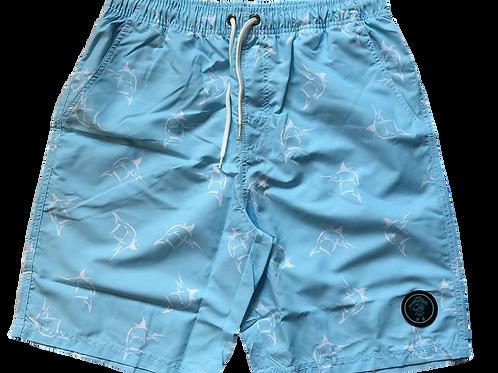 Preppy Pirate Board Shorts -Swordfish Prep