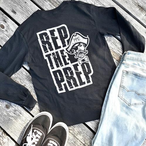 REP THE PREP Longsleeve tee - Black