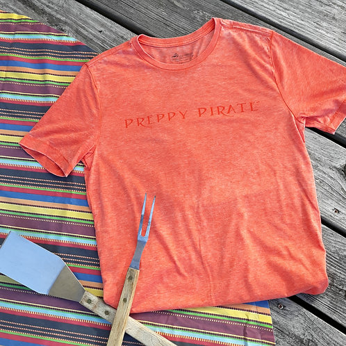 Preppy Pirate Orange Burn-out tee
