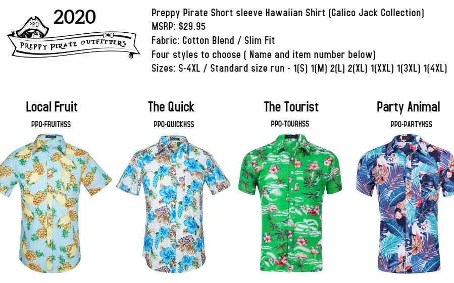 Hawaiian shirt by Preppy Pirate